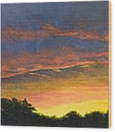 Tamarac Sunset Wood Print