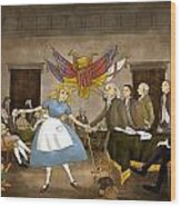 Tammy In Independence Hall Wood Print by Reynold Jay