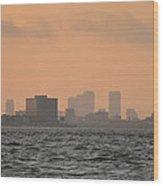 Tampa At Sunrise Wood Print