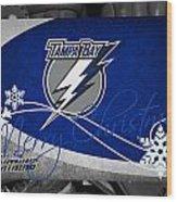 Tampa Bay Lightning Christmas Wood Print