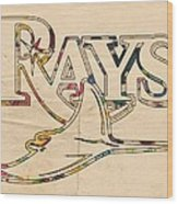 Tampa Bay Rays Logo Art Wood Print