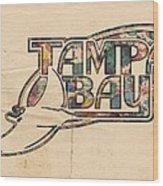 Tampa Bay Rays Poster Art Wood Print