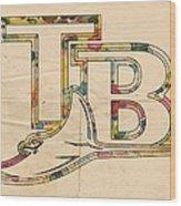 Tampa Bay Rays Poster Vintage Wood Print