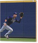 Tampa Bay Rays V Atlanta Braves Wood Print