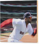 Tampa Bay Rays v Boston Red Sox Wood Print