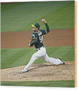 Tampa Bay Rays V Oakland Athletics Wood Print