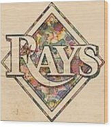Tampa Bay Rays Vintage Art Wood Print