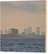 Tampa From The West Shore Wood Print