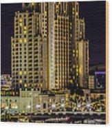 Tampa Marriott Waterside Hotel And Marina Wood Print