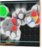 Tamsulosin Hydrochloride Molecule Wood Print