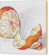 Tangelo Wood Print