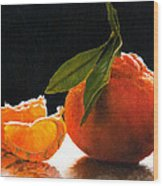 Tangelo Slices Wood Print