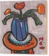 Tangerine Table Wood Print