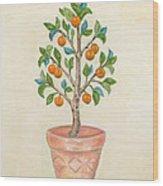 Tangerine Tree Wood Print