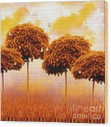 Tangerine Trees And Marmalade Skies Wood Print by Mo T