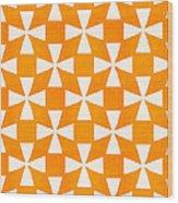 Tangerine Twirl Wood Print