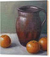 Tangerines Wood Print by Janet King