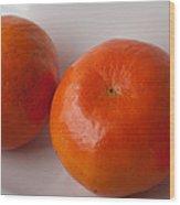 Tangerines3 Wood Print by Lena Wilhite
