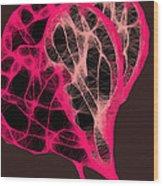Tangled Hearts Wood Print