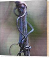 Tangled In Blue Wood Print