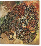 Tangled Lion Wood Print