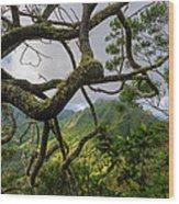 Tangled Mess Wood Print
