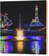 Tanglewood Festival Of Lights Wood Print