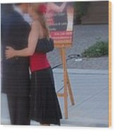 Tango Dancing On The Street Wood Print
