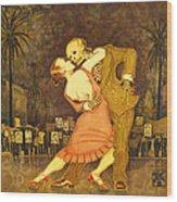 Tango En La Plaza De Mayo Wood Print