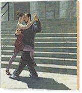 Tango On The Square Wood Print