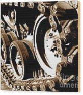 Tank Tracks Wood Print