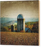 Tanner Hill Farm In The Fall Connecticut Usa Wood Print