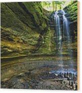 Tannery Falls Near Pictured Rocks National Lakeshore - Munising  Wood Print
