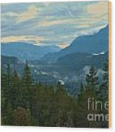 Tantalus Mountain Afternoon Landscape Wood Print