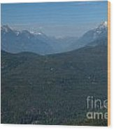 Tantalus Mountain Snow Caps Wood Print