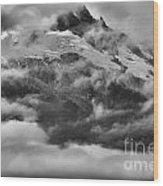 Tantalus Mountain Storms Wood Print
