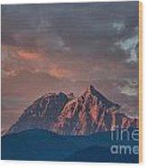Tantalus Mountain Sunset - British Columbia Wood Print