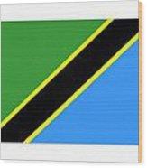 Tanzania Flag Wood Print