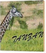Tanzania Poster Wood Print