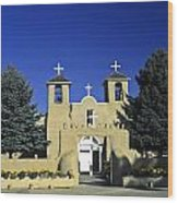 Taos Adobe Church Wood Print