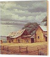 Taos Homestead Wood Print by Paul Krapf