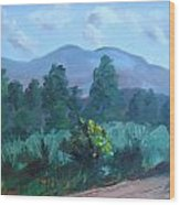 Taos Mountain Wood Print