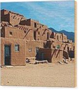 Taos Pueblo 4 Wood Print