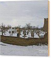 Taos Pueblo Cemetery Wood Print