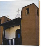 Taos Pueblo Church 2 Wood Print
