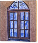 Taos Pueblo Church Window Wood Print