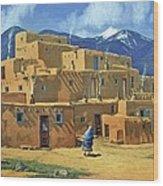 Taos Pueblo Wood Print