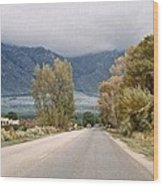 Taos Road Wood Print