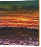 Taos Sunset Lx - Homage Turner Wood Print