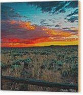 Taos Sunset Xi Wood Print